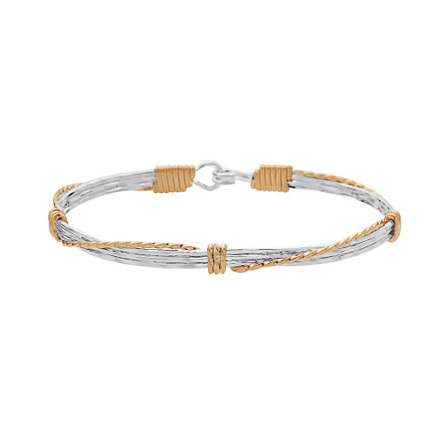 Leap of Faith Bracelet - Sterling Silver with 14K Gold Artist Wire