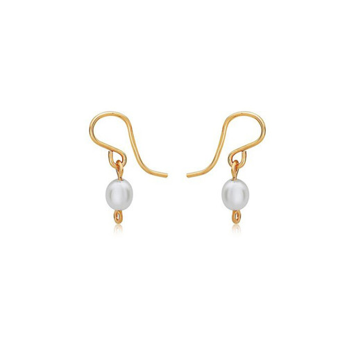 Pearl of My Heart Earrings - 14K Gold Artist Wire