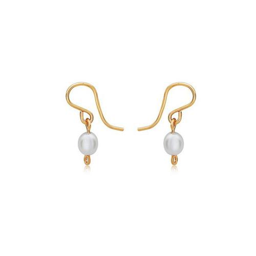Pearl of My Heart Earrings - 14K Gold Artist Wire