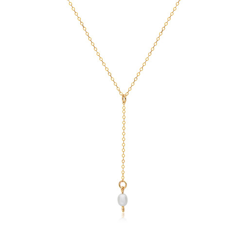 Pearl of My Heart Pendant - 14K Gold Artist Wire