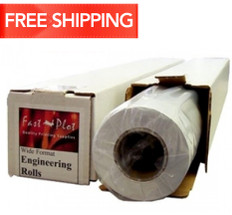 20 lb. Bond Plotter Paper Taped 17 x 500 3 Core - 4 Rolls