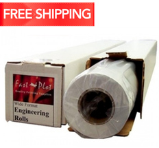 20 lb. Bond Plotter Paper Taped 34 x 500 3 Core - 2 Rolls