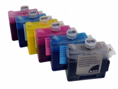FastPlot Compatible Ink Cartridge Replacement for Canon W8400, W8200 - Set of 6