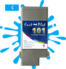 FastPlot Compatible Ink Cartridge Replacement for Canon 101 - Cyan