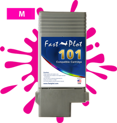 FastPlot Compatible Ink Cartridge Replacement for Canon 101 -   Magenta