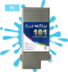 FastPlot Compatible Ink Cartridge Replacement for Canon 101 -   Photo Cyan