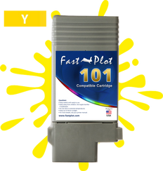 FastPlot Compatible Ink Cartridge Replacement for Canon 101 -   Yellow