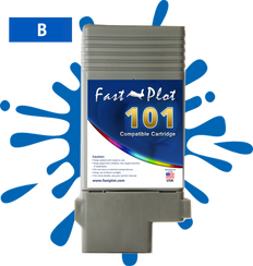 FastPlot Compatible Ink Cartridge Replacement for Canon 101 -   Blue
