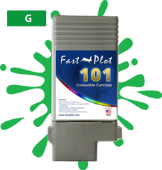 FastPlot Compatible Ink Cartridge Replacement for Canon 101 -   Green