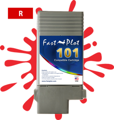 FastPlot Compatible Ink Cartridge Replacement for Canon 101 -   Red