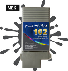 FastPlot Compatible Ink Cartridge Replacement for Canon 102 - Matte Black