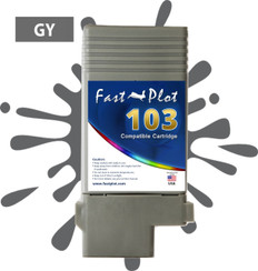FastPlot Compatible Ink Cartridge Replacement for Canon 103 -  Gray