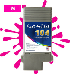 FastPlot Compatible Ink Cartridge Replacement for Canon 104 -Magenta
