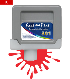 FastPlot Compatible Ink Cartridge Replacement for Canon 301 - Red