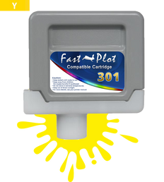 FastPlot Compatible Ink Cartridge Replacement for Canon 301 -  Yellow
