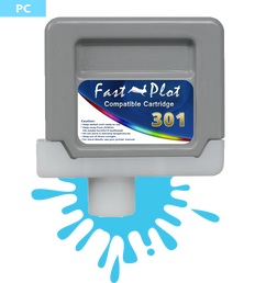 FastPlot Compatible Ink Cartridge Replacement for Canon 301 -  Photo Cyan