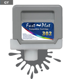 FastPlot Compatible Ink Cartridge Replacement for Canon 302 - Gray