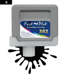 FastPlot Compatible Ink Cartridge Replacement for Canon 302 - Black
