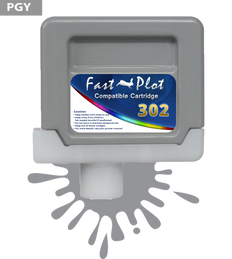 FastPlot Compatible Ink Cartridge Replacement for Canon 302 - Photo Gray