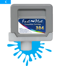 FastPlot Compatible Ink Cartridge Replacement for Canon 304 - Cyan