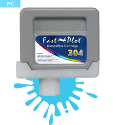 FastPlot Compatible Ink Cartridge Replacement for Canon 304 - Photo Cyan