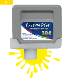 FastPlot Compatible Ink Cartridge Replacement for Canon 304 - Yellow