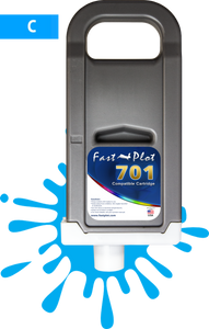 FastPlot Compatible Ink Cartridge Replacement for Canon 701 - Cyan