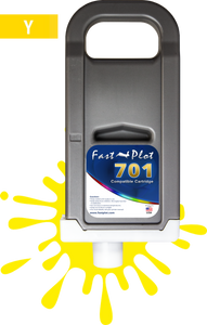 FastPlot Compatible Ink Cartridge Replacement for Canon 701 - Yellow