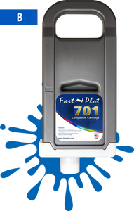 FastPlot Compatible Ink Cartridge Replacement for Canon 701 - Blue