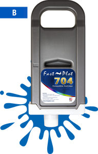 FastPlot Compatible Ink Cartridge Replacement for Canon 704 - Blue