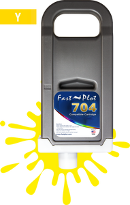 FastPlot Compatible Ink Cartridge Replacement for Canon 704 - Yellow