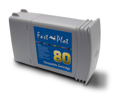 FastPlot Re manufactured Ink Cartridge Replacement for HP 80  Magenta  Dye 350ml
