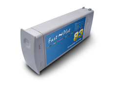 FastPlot Re manufactured Ink Cartridge Replacement for HP 83 UV Ink  Light Cyan