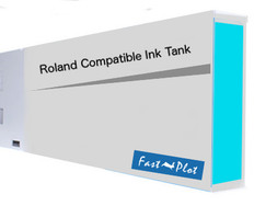 FastPlot Compatible Ink Cartridge Replacement for Roland Solvent Printers - Cyan 220ml