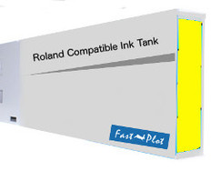 FastPlot Compatible Ink Cartridge Replacement for Roland Solvent Printers - Yellow 220ml
