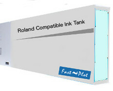 FastPlot Compatible Ink Cartridge Replacement for Roland Solvent Printers - Light Cyan 440ml