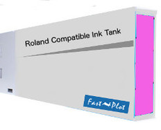 FastPlot Compatible Ink Cartridge Replacement for Roland Solvent Printers - Magenta 440ml