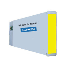 FastPlot Compatible Ink Cartridge Replacement for Mimaki JV33 & JV5 (ES3) - Yellow 440ml