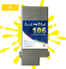 FastPlot Compatible Ink Cartridge Replacement for Canon 106 color Yellow