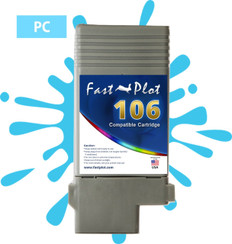 FastPlot Compatible Ink Cartridge Replacement for Canon 106 color  Photo Cyan