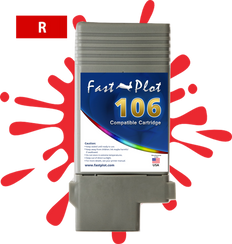 FastPlot Compatible Ink Cartridge Replacement for Canon 106 color  Red