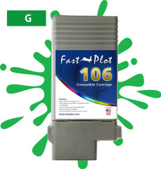 FastPlot Compatible Ink Cartridge Replacement for Canon 106 color  Green
