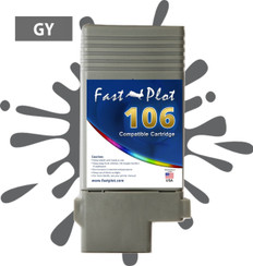 FastPlot Compatible Ink Cartridge Replacement for Canon 106  color  Gray