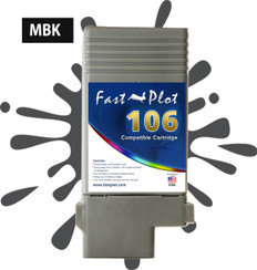 FastPlot Compatible Ink Cartridge Replacement for Canon 106 color  Matte Black