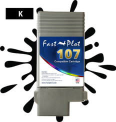 FastPlot Compatible Ink Cartridge Replacement for Canon 107 color  Black