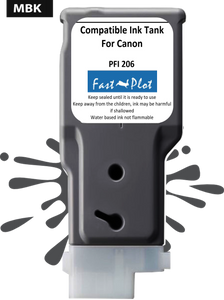 FastPlot Compatible Ink Cartridge Replacement for Canon 206 color  Matte Black