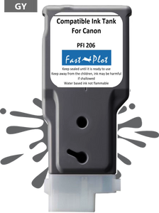 FastPlot Compatible Ink Cartridge Replacement for Canon 206 color Gray