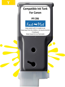FastPlot Compatible Ink Cartridge Replacement for Canon 206 color Yellow