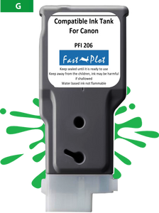 FastPlot Compatible Ink Cartridge Replacement for Canon 206 color Green