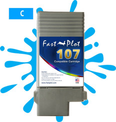 FastPlot Compatible Ink Cartridge Replacement for Canon 107 color  Cyan